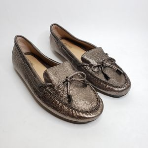Michael Kors Metallic Bow Loafers NWOT Size 8